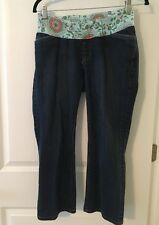 Gap Maternity Stretchy Low Real Waist Panel, Size 4 Reg, Cropped Jeans Pants