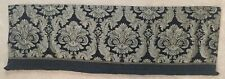 "JC Penney Black & Gold Damask tapestry Valance ...Home Collection 60"" x 18"""