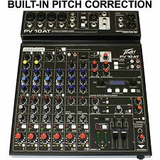 PEAVEY PV10AT Built-In Antares Live Pitch Correction USB FX Audio Mixer
