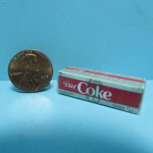Dollhouse Miniature Replica Diet Coke Soda Box / Case