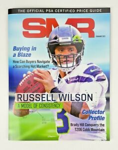 SMR Magazine February 2021 Russell Wilson PSA Certified Price Guide Book NFL MLB