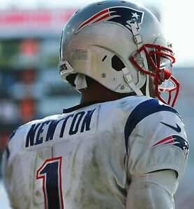 CAM NEWTON 8X10 PHOTO NEW ENGLAND PATRIOTS PICTURE NFL FOOTBALL FROM BACK