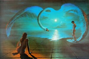 """Wings of Love WALL ART  CANVAS   20""""X30"""""""