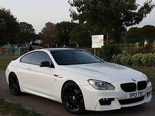 2013 BMW 6 SERIES 640D M SPORT COUPE IN RARE WHITE WITH RED LEAHTER INTERIOR