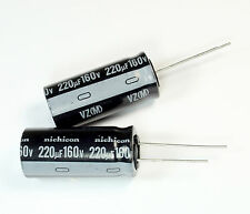 8pcs Nichicon VZ 220uF 160v 105C Radial Electrolytic Capacitor 16mmX 35mm