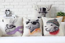 Sketch Cool Pig Deer Sheep Rabbit Pattern Cushion Cover Decorative Pillow Case