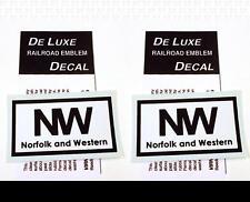 DeLuxe By Virnex Decals Black White Norfolk & Western Herald D-104 -Two Decals-
