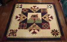 Joann's CountrySide Cottage 84 x 84 Queen size quilt Country Handmade