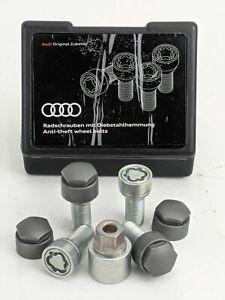 GENUINE Audi Anti-Theft Locking Wheel Bolt Kit M14 X 1.5 X 27 4F0071455