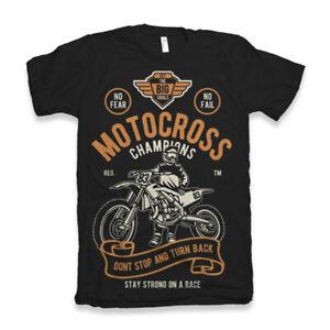 Motocross T Shirt Champions Mens Motorcycles Garage Full Speed Champion