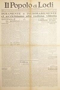 WWII Settimanale - Il Popolo di Lodi N. 14 - 1942