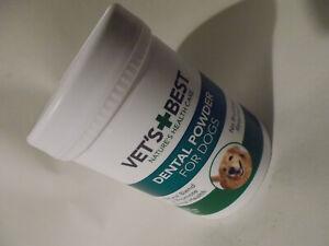 Vets Best Natural Dental Powder Plaque Off Tarter Remover For Dogs Cleaner Teeth