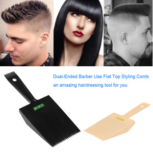 Dual-Ended Hair Combs Barber Clipper Flat Top W/ Water Leveling System Hot Y7I5