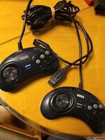 Lot of 2 Original Official Genuine Sega Genesis 6 six Button MK 1653 Controllers
