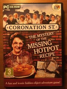 Coronation Street - The Mystery Of The Missing Hotpot Recipe PC CD Rom Game GSP
