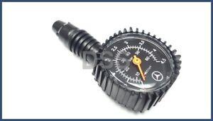 New Genuine Mercedes Benz Tire Pressure Gauge w/ Leather Soft Case OEM B66588140