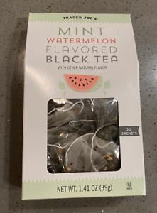 TRADER JOE'S Mint Watermelon Flavored Black Tea 1.41oz *Seasonal* Paper Box