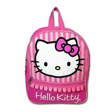 "Backpack 12"" 2-Compartment School Bag Sanrio Hello Kitty Pink NWT"