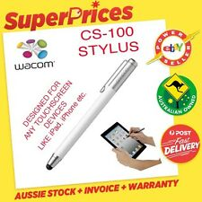 WACOM BAMBOO STYLUS PEN CS 100 WHITE FOR APPLE iPAD/iPHONE/SAMSUNG TOUCH TABLET