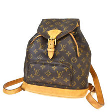 Auth Louis Vuitton Montsouris MM zaino borsa monogram in pelle M51136 18BP592