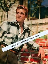 GUY MADISON sheik RARE Early Young Portrait PHOTO gay interest SEXY in PLAID