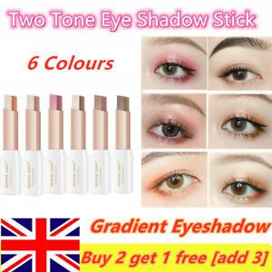 Glitter Double Colour Gradient Eyeshadow Stick Two-Tone Eye Shadow Pen Cosmetics