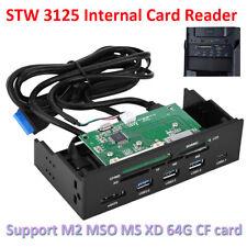 """5.25"""" USB Lector de Tarjetas SD TF Interno Multifunción All-in-1 PC eSATA Panel Frontal"""