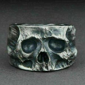 Wholesale Heavy Stainless Steel Ring Gothic Punk Biker Rings Skull Men Jewelry