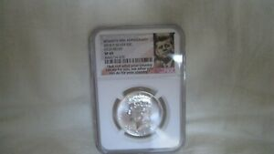 2014 D 50C silver high relief Kennedy 50th Anniversary NGC SP69