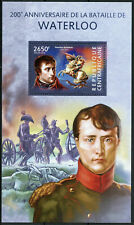 Central African Rep Military Stamps 2015 MNH Battle of Waterloo Napoleon 1v S/S