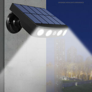 LED Solarleuchte mit Bewegungsmelder Außen Fluter Gartenstrahler Solar Lampe DE