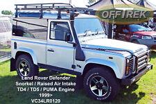 Land Rover DEFENDER Snorkel fits 1999> TD5 / TD4 - Raised Air Intake VC34LR0120