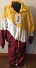 Speedline Athletic Wear Vintage Men's Nylon Crinkle Jacket & Pants Large NWT