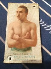 Jack McAuliffe Allen & Ginter's Cigarettes 1887 Richmond Virginia