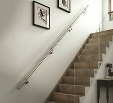 Stairs Staircase Handrail Banister Rail Kit 3.6m Brushed Stainless Steel 40mm