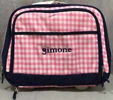 "2be5ea5cf6 Pottery Barn Kids Pink Navy Gingham Mackenzie Carry-All Travel Bag ""Simone"""