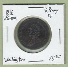 1816 Wellington 1/2 Penny Token - WE-10A1 - EF