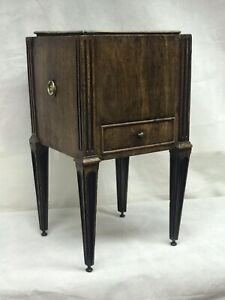 Edwardian Mahogany Planter With Drawer And Brass Liner