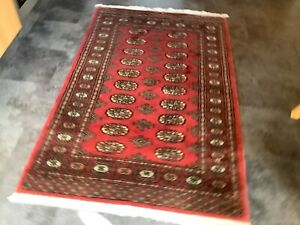 BOKHARA ROSE/PINK, 5' x 3', BRAND NEW, GENUINE, HAND-KNOTTED WOOL, FREE DEL.