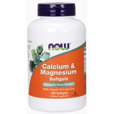 Calcium Magnesium & D 120 Softgels Now Foods Bones