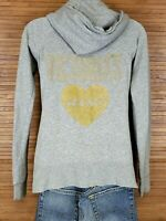 Victorias Secret Gray Full Zip Embellished Hoodie Womens Size XS