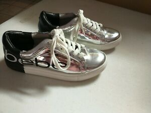 Super Cute Bebe Sneakers shoes  - Special Edition Chrome / Black / White Size 6