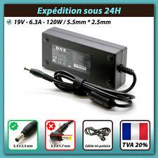 Alimentation chargeur pour portable Asus N550jv 120W 19V 6.3A ADAPTATEUR SECTEUR