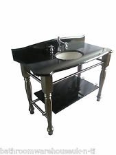 Cast Iron Vanity Unit Windsor & Buckingham Black Marble