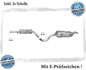 Auspuffanlage VW Bora 1.6 FSi  2.0  Auspuff Endtopf Mitteltopf Schelle