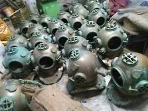 Antique Diving Helmets Rusted Master piece Diving helmets Lot 10 pieces
