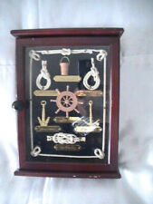Nautical Wooden Key Holder Cabinet Wall Mounted