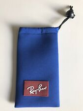 Ray Ban Blue Soft Glasses Sunglasses Case Pouch With Drawstring, NEW Genuine.