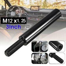3'' Black M12X1.25 Car Shift Knob Extender Shifter Stick Lever Extension Gear CN