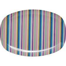 RICE Melamine plate in stripe print